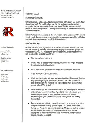 In a letter to parents and the school community, Rittman Exempted Village shared an individual at the district has tested positive for COVID-19.