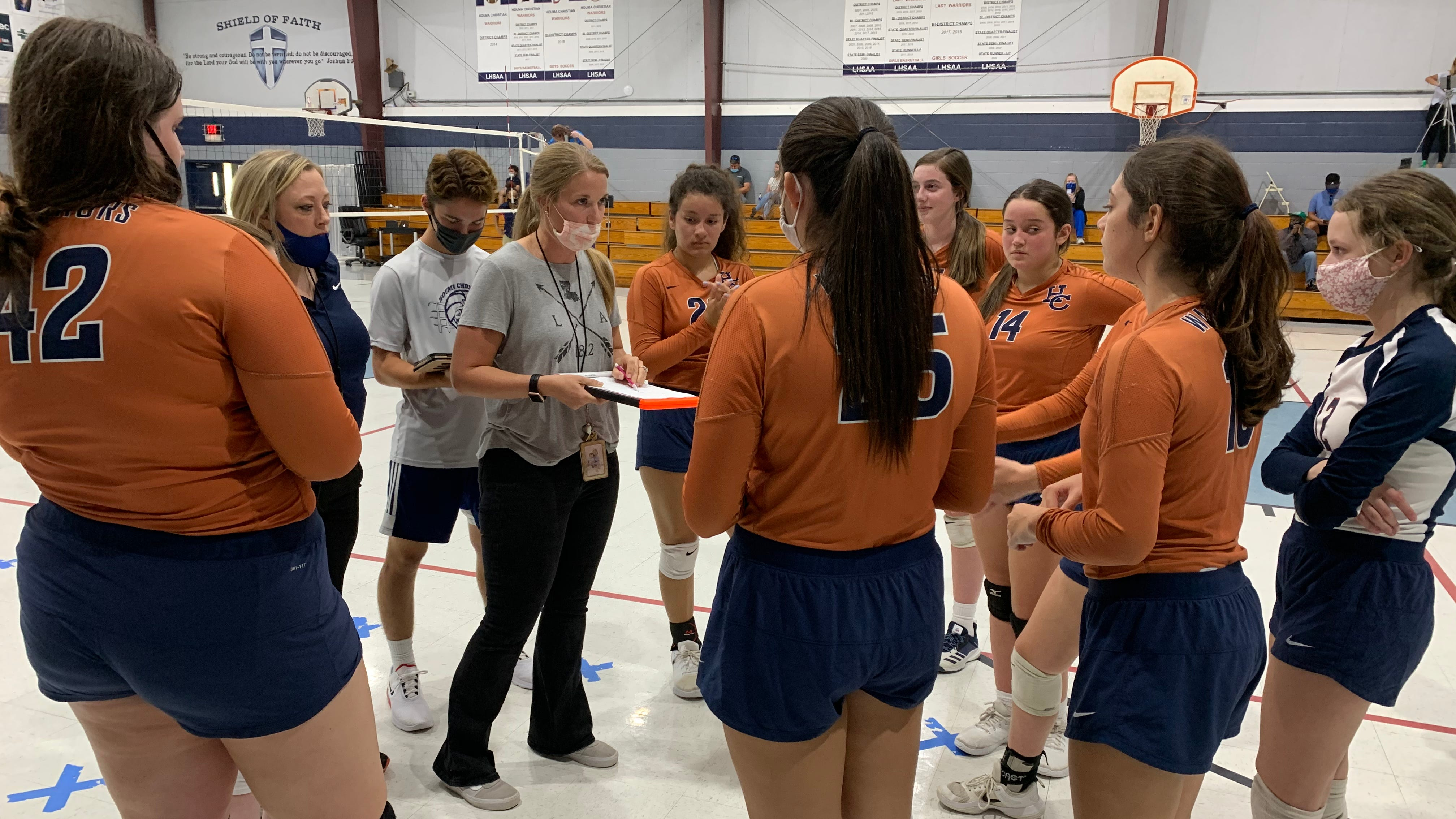 Back in action: Houma Christian starts season with volleyball win over Ellender