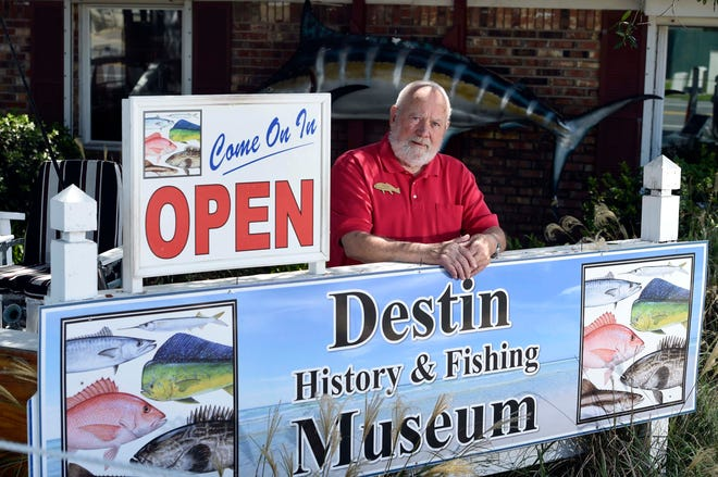 Dave Fraser has logged in more than 4,100 volunteer hours greeting visitors as they enter the Destin Fishing Museum, located on Stahlman Avenue across from the Destin Community Center.