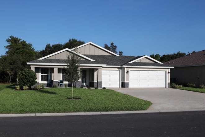 The Greysone is one of Vanacore Homes' larger floor plans available at Bulow Creek Preserve.