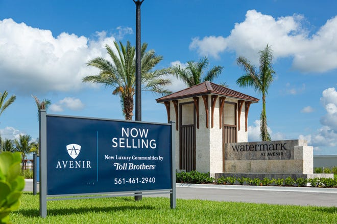 Watermark is one of two new Toll Brothers gated developments at Avenir in Palm Beach Gardens. A grand opening event for Watermark and Windgate at Avenir will be held this weekend. [JOSEPH FORZANO/palmbeachpost.com]