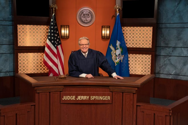 """Jerry Springer, a Sarasota resident, rules on small claims cases on the second season of """"Judge Jerry."""""""
