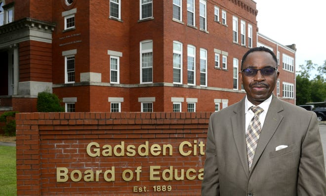 Tony Reddick, superintendent of Gadsden City Schools, is pictured outside the central office.