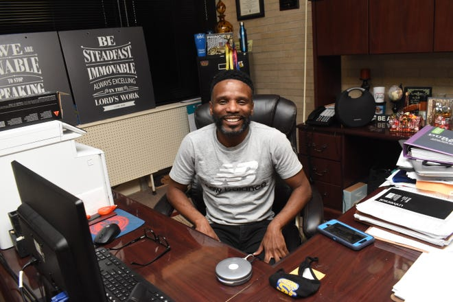 Dennis Stewart, principal of Alexandria Middle Magnet School who was recently named the 2021 Louisiana Middle School Principal of the year.
