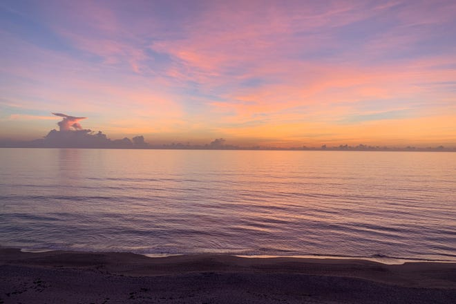 Our recent stay on the beach in Indialantic rewarded us with gorgeous sunrises.