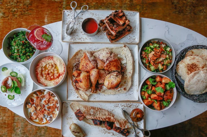 A spread of offerings from Lebanese restaurant Leila, the Free Press' 2020 Restaurant of the Year.
