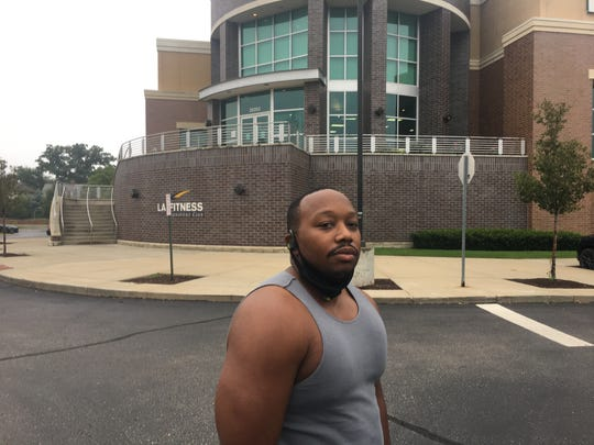 Mike Finley worked out Wednesday morning  at the LA Fitness in Royal Oak. He had been driving to Toledo three times a week all summer to visit Ohio gyms.