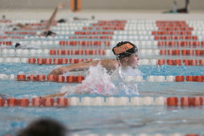 Drue Thielking is one of four returning all-state swimmers for Brighton.