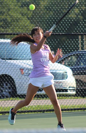 Lexington junior Gracie Pfieffer is headed back to the state tournament for the third straight year and second time in singles after finishing as a district runner-up Saturday.