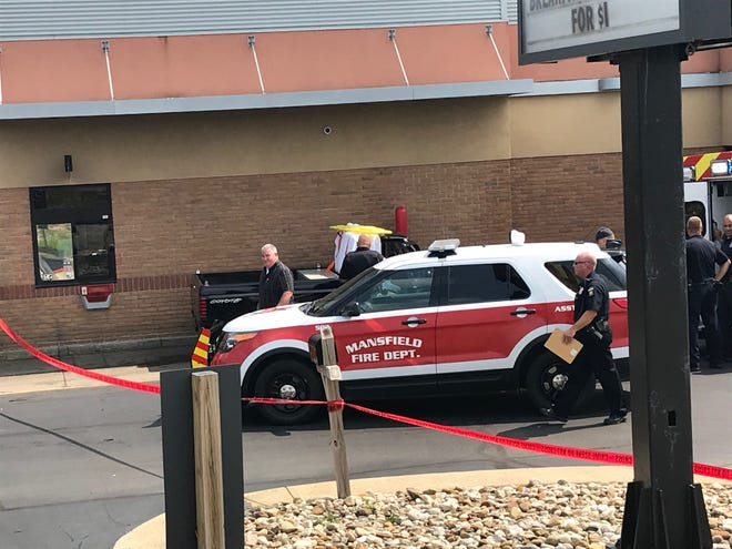 A man was pronounced dead Wednesday afternoon in the drive-thru of the McDonald's on North Trimble Road. Bob Ball, a Richland County coroner's investigator, said the man was identified as Gary McQuillen, 69, of Mansfield. Cause of death is pending an autopsy. Mansfield police and firefighters were scene.