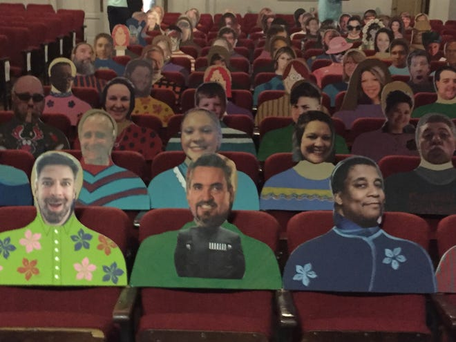 """Playhouse Pals"" are helping fill seats at the Mansfield Playhouse during the COVID-19 pandemic."