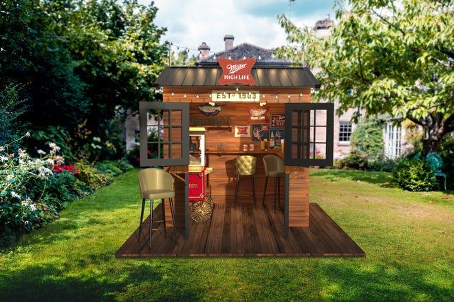 Miller High Life is giving away a backyard dive bar.