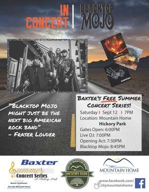 East Texas rockers Blacktop Mojo will be the latest band to grace the Farmers and Merchants Bank Stage as part of theBaxter Healthcare Summer Concert Series.