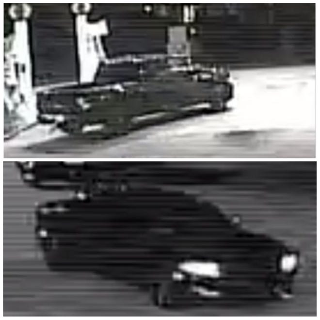 Police are searching for the occupants of both a black pick up truck, believed to be a Dodge Ram 1500, and a Dodge Charger.