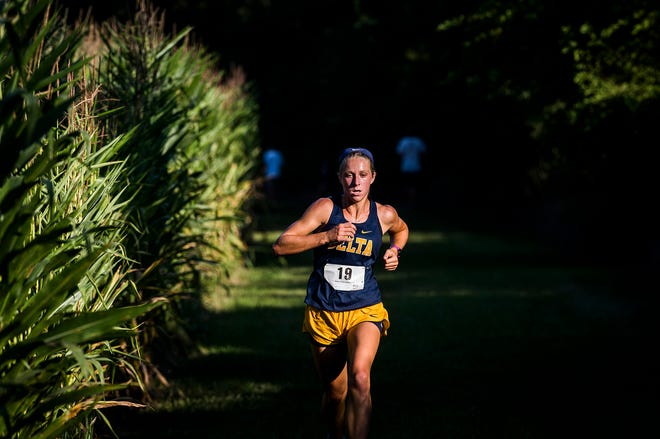 Delta's Nicki Southerland finished first during the cross country meet at Cowan High School Tuesday, Sept. 8, 2020.