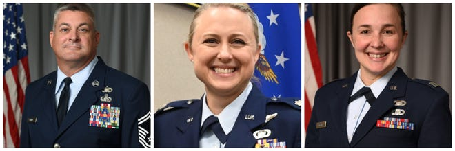 Sgt. Scott Bumpus, Lt. Col. Shelli Huether and Capt. Jessica Wright died Tuesday, Sept. 8, 2020, during a plane crash in McMinnville.