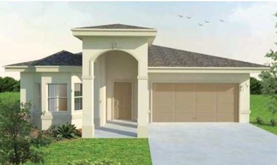 An artist's conception of the Casa Feliz, a new move-in ready home now under construction at Arrowhead Reserve in Immokalee.