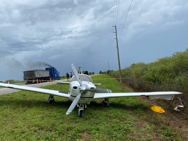 No injuries were reported after a small airplane made an emergency landing in the eastbound lanes of Alligator Alley on Sept. 9, 2020.