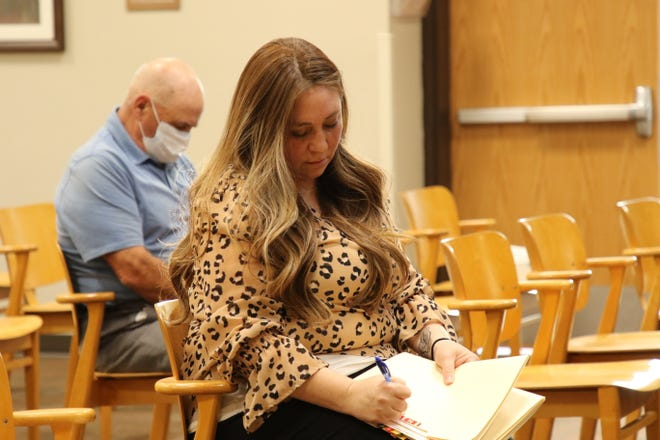 City of Carlsbad Deputy Planning Director Trysha Ortiz keeps track of zoning changes during the Sept. 8, 2020 City Council meeting.