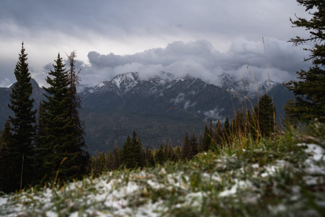 A weather front swept through San Juan County Tuesday and Wednesday, sending temperatures to between 20 and 30 degrees below normal for this time of year. Purgatory Resort near Durango, Colorado, reported snowfall, as did Molas Lake near Silverton, Colorado.