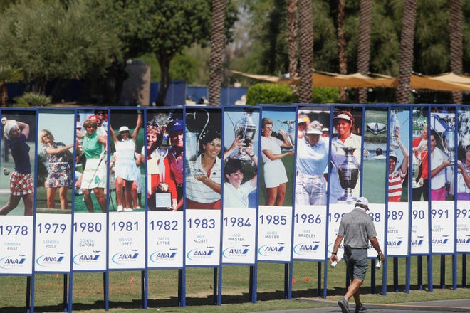 Scenes from the ANA Inspiration LPGA golf tournament at Mission Hills Country Club in Rancho Mirage on September 9, 2020.