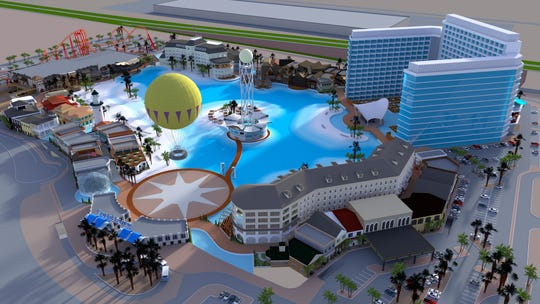 The Glendale City Council approved plans for Crystal Lagoons, Island Resort near the Westgate Entertainment District. The massive water park, surrounded by a hotel, dining, retail and office space and rides, is scheduled to open in late 2022.