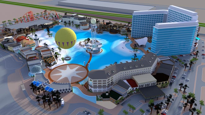 The Glendale City Council approved plans for Crystal Lagoons, Island Resort near the Westgate Entertainment District. The massive water park surrounded by a hotel, dining, retail and office space and rides, is scheduled to open in late 2022.