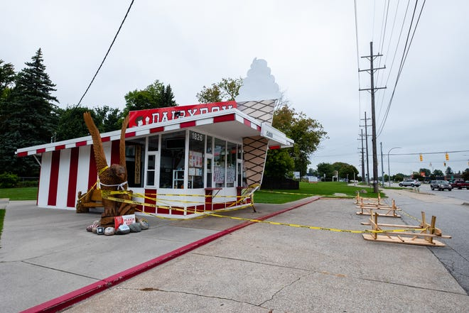 Dairy Boy Ice Cream in Marysville is temporarily closed after a car hit part of the shop on Labor Day. The driver of the vehicle was uninjured, and the business owner hopes to have the ice cream shop reopened in the next two weeks.