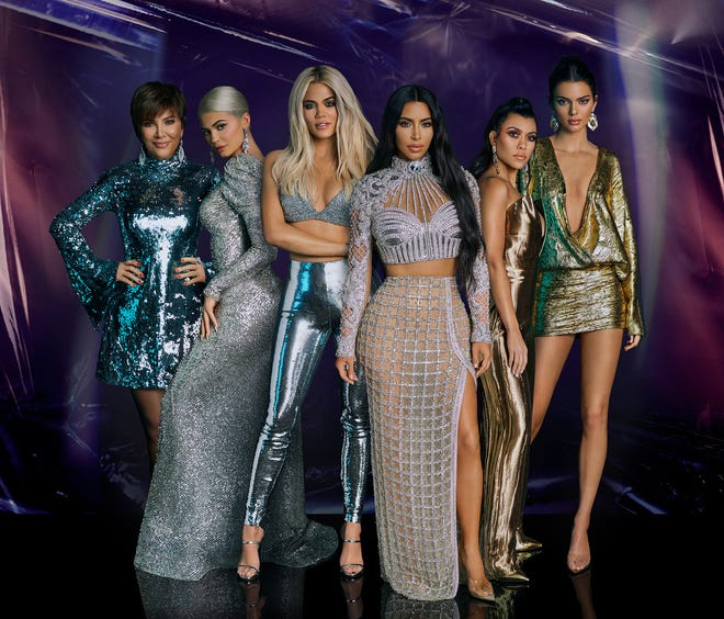 """The Kardashians are featured in promotional art for season 16 of """"Keeping Up With The Kardashians."""""""