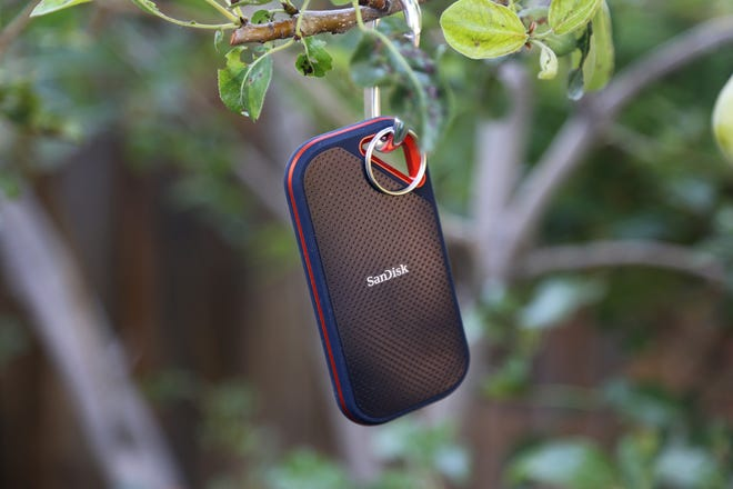 The  SanDisk Extreme Pro Portable SSD.