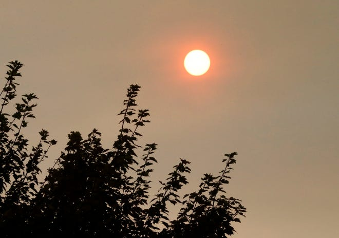 San Angelo could see and smell smoke from the California wildfires Monday, Sept. 14, 2020.