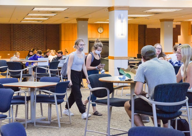 South Dakota State University students live and work on campus amid the COVID-19 pandemic on Wednesday, September 2, in Brookings.