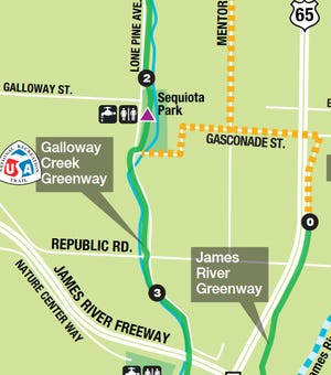 Galloway Creek Greenway south of Sequiota Park will get a major reconstruction this winter.