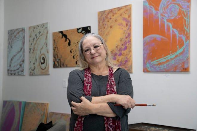 Barbara Psimas at her studio in Railroad Square Art Park
