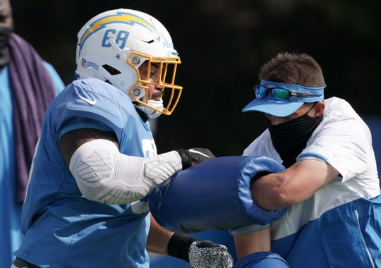 Breiden Fehoko went undrafted, but earned a spot on the Chargers' practice squad.