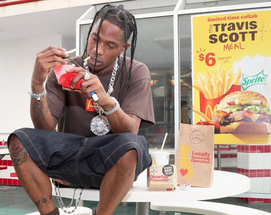 Travis Scott went to the oldest McDonald's in Downey, California to order his time-limited collapse in the fast food chain.