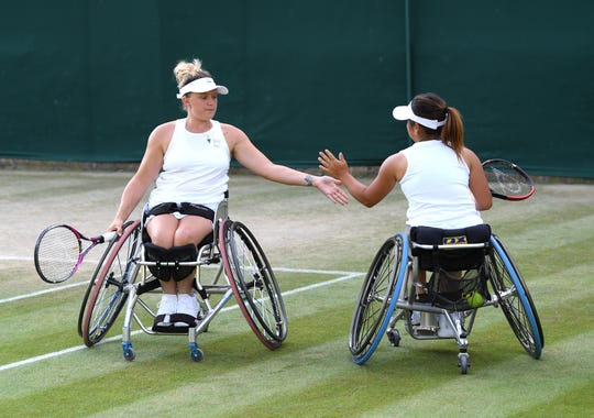 Jordanne Whiley and partner Yui Kamiji have won 10 Grand Slam doubles titles, including four at Wimbledon.