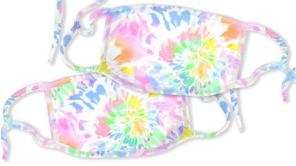 These trendy masks come in tie-dye and tropical prints.