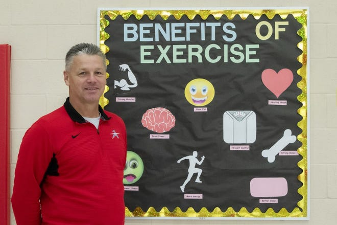 Michael Zemrock, a physical education teacher at Alliance Elementary School, is The Alliance Review's Make the Grade Teacher of the Month for September.