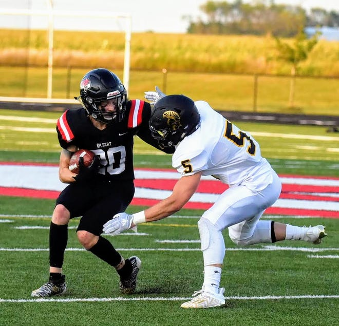 Trey Hansen and the rest of the Gilbert football team are focusing on keeping their game sharp during an off week this week. The Tigers' scheduled game against Mason City this Friday was canceled due to a positive COVID-19 case at Mason City.