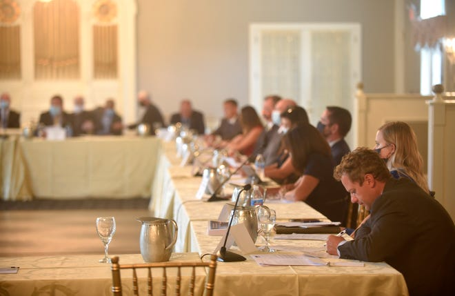 Lawmakers listen to community leaders as they discuss the health and financial impact of COVID-19 during a Pennsylvania's House Majority Policy Committee Meeting Sept. 9.