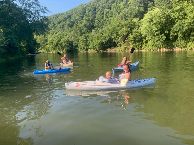 The Dille family of Ohioville enjoys kayaking on Little Beaver Creek.
