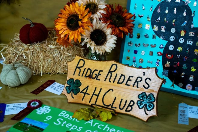 The Ridge Riders 4-H Club was one of many who had displays at the Belmont County fair.