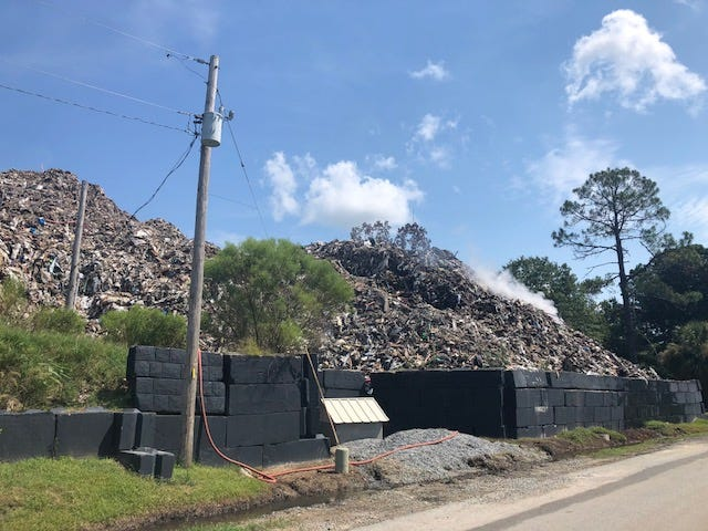 The South Carolina Department Health and Environmental Control is seeking more than $5 million in a lawsuit for cleanup costs associated with the trash pile cleanup at Able Contracting.