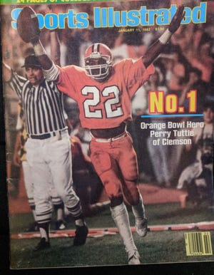 North Davidson's wide receiver Perry Tuttle, who broke his leg in the 1975 WNCHSAA state title game against Shelby, went on to become a star wide receiver at Clemson and was featured on the Sports Illustrated cover celebrating Clemson's 1981 national football championship win.