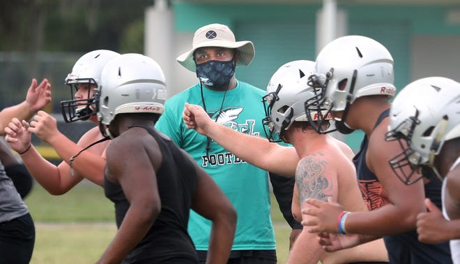"Hired as Atlantic's football coach in August, Chris Brown expects the Sharks to be ""Down South ready"" this fall."