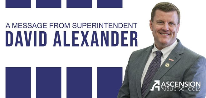 A message from Ascension Schools Superintendent David Alexander