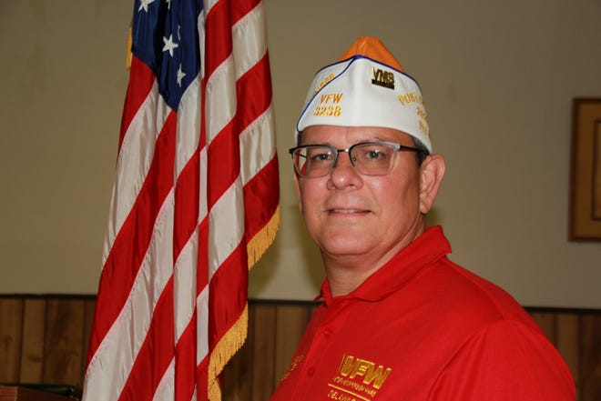 Camden VFW Post Commander Larry Josefowski
