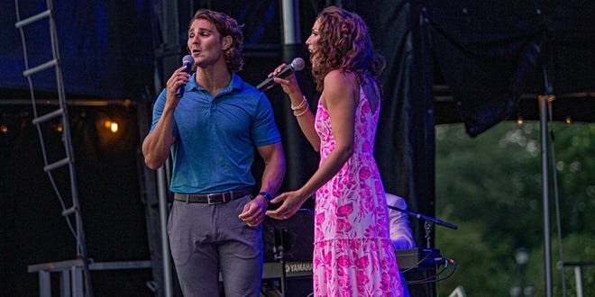 "Back by popular demand, Caroline Bowman and Austin Colby will perform popular musical numbers in ""Broadway Stars (Under the Stars): Part Deux"" at The Freeman Stage in Selbyville on Friday, Sept. 11."