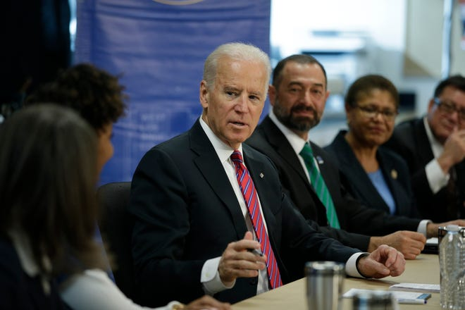 Democratic presidential candidate Joe Biden speaks at a 2015 roundtable discussion held at West Los Angeles College in Culver City, Calif. [AP Photo/Jae C. Hong]